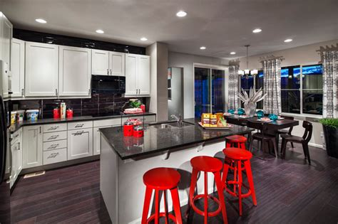 whim whimsy interior lust colorful kitchens candelas collage model kitchen dining area contemporary
