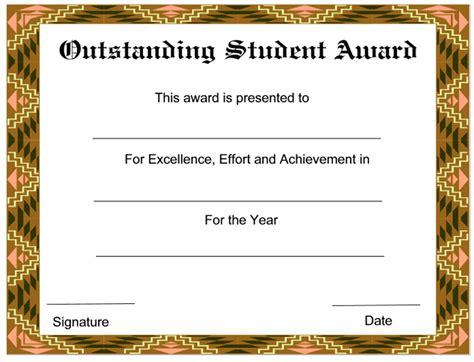 outstanding student award certificates certificates pinterest