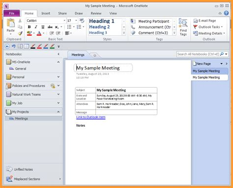onenote templates onenote meeting template letter format mail
