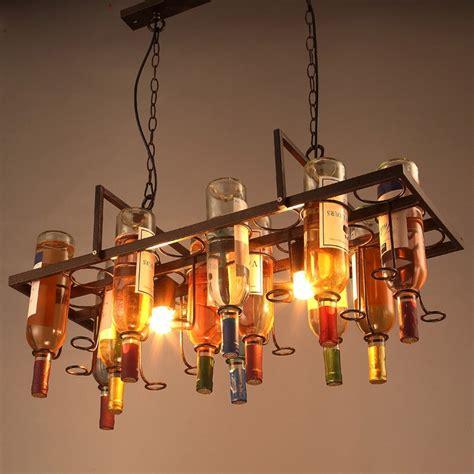 Creative Hanging Lights Nordic Creative Wine Bottle Pendant Light 75 30cm Glass Bottle Chain Hanging Ls Bar