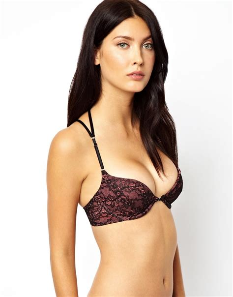 Cross Back Lace Bra lyst marios schwab kallisti by for asos inc lace plunge