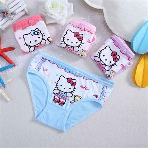 10 pcs small girls underwear cotton dot girls preteen little girls briefs panties soft cotton lovely kitty