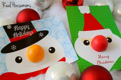 eos reindeer card free template eos lip balm gift idea dimple prints