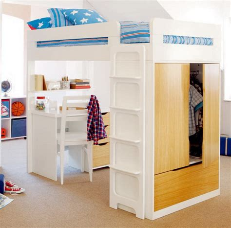 Childrens Bed With Wardrobe Underneath by Home Decor Singapore