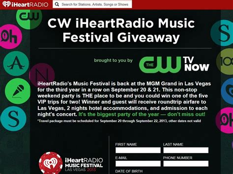 Music Giveaway - cw iheartradio music festival giveaway