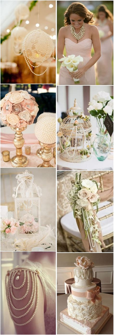 vintage wedding ideas vintage pearl wedding decor ideas tulle chantilly wedding
