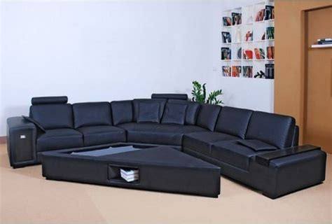 Tosh Sectional Sofa Tosh Furniture Black Leather Sectional Sofa Set Tos Vt S1323 Lt 005 Traditional