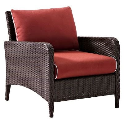 wicker chair target crosley kiawah outdoor wicker arm chair with sangria