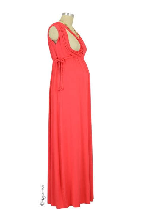 Maxi Dress Maternity Baju Maternity Nursing Maxi Dress In Geranium By Baju
