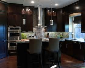 In kitchen design in dallas with a drop in sink flat panel cabinets