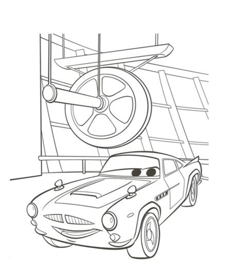 Finn Mcmissile Coloring Page coast cars 2 coloring contest www hits973