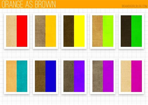 colors that match with brown orange as brown palattes color theory color