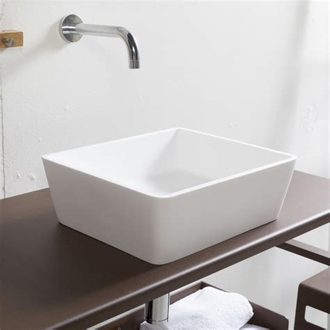 lavello in resina lavabo da appoggio design in resina slash basic cip 236