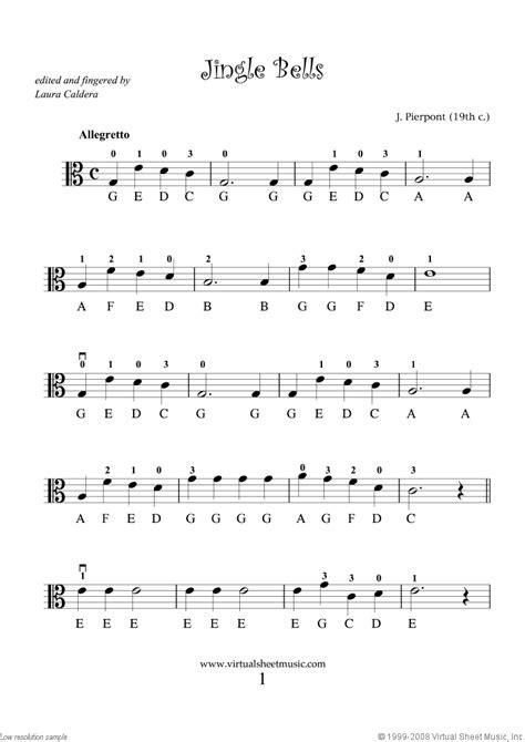 viola solo christmas sheet  carols  easy  beginners