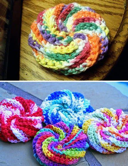 html pattern ie crochet for children spiral scrubbie free pattern