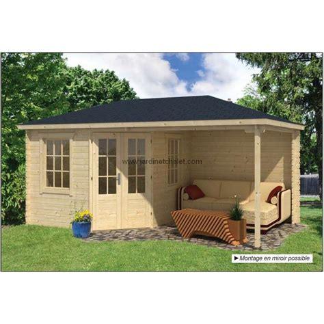 chalet de jardin en kit abri jardin 7m2 chalet en kit bois kennet 28mm terrasse couverte