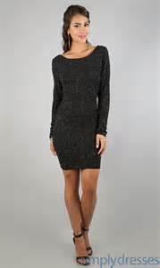 long sleeve black cocktail dresses dress ty
