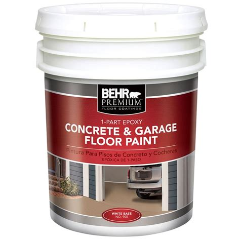 Garage Floor Paint 5 Gallon Behr Premium 5 Gal White 1 Part Epoxy Acrylic Concrete