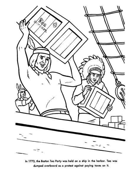 boston tea party coloring pages az coloring pages