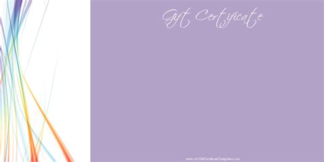 Gift Card Background - printable gift certificate templates