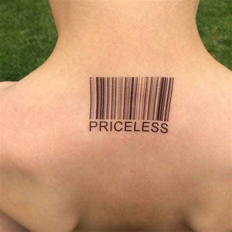 Barcode Tattoo Lower Back | priceless priceless tattoo barcode tattoo barcode upc