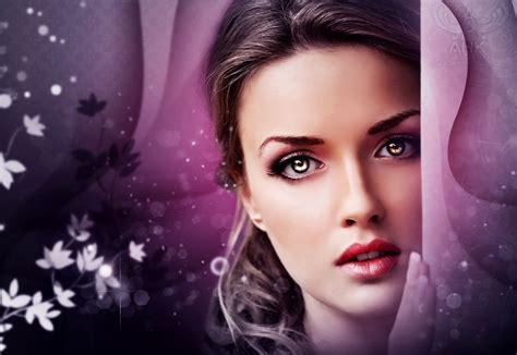 wallpaper girl makeup face beautiful beauty woman girl fantasy eyes wallpaper