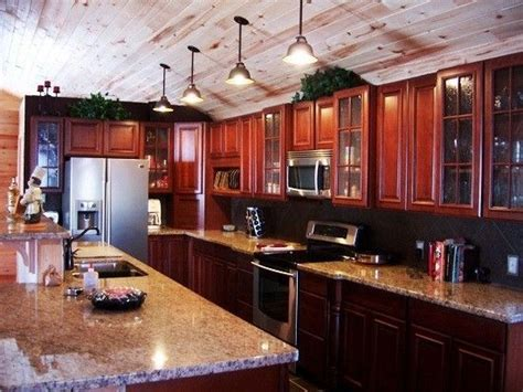 love  glass cabinets wood  ceiling  hanging