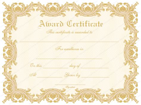 Award Template by 43 Formal And Informal Editable Certificate Template