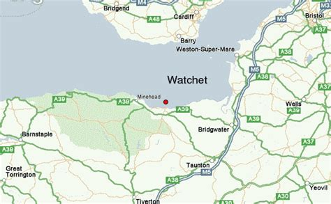 map uk somerset watchet location guide