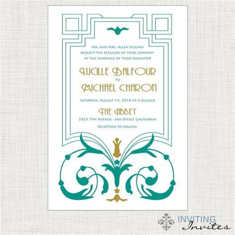 printable art deco wedding invitations art deco art nouveau wedding invitation by invitinginvites