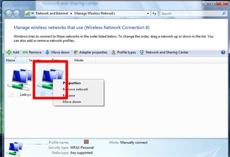 reset network password vista how to change the password to a saved wireless network on