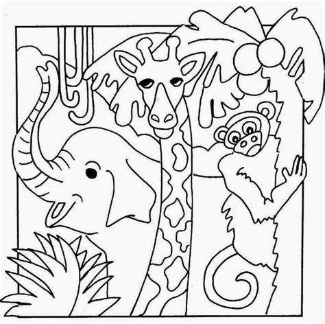 sketsa mewarnai binatang kartun bahasapendidikan bahasapendidikan
