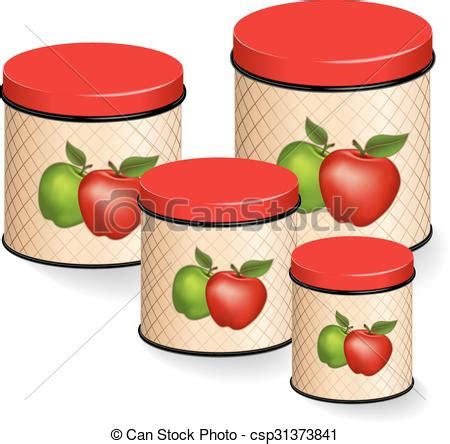 Apple Kitchen Canisters by Eps Vector Of Kitchen Canisters Set With Apples Kitchen