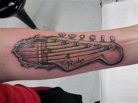 fender tattoos designs fender stratocaster guitar forearm