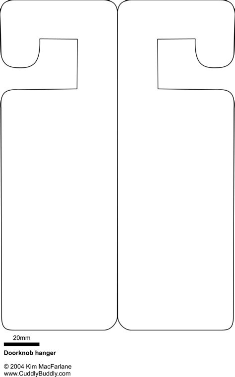 free door hanger templates door hanger template images