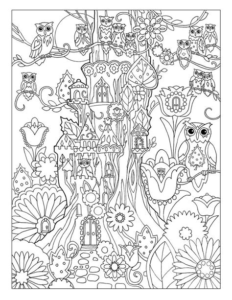 creative coloring books creative owls coloring book by marjorie sarnat