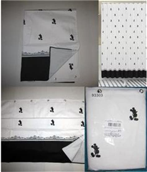 vintage mickey mouse shower curtain new vintage black white mickey mouse silhouettes shower