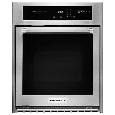 kitchenaid 24 in single electric wall oven self cleaning