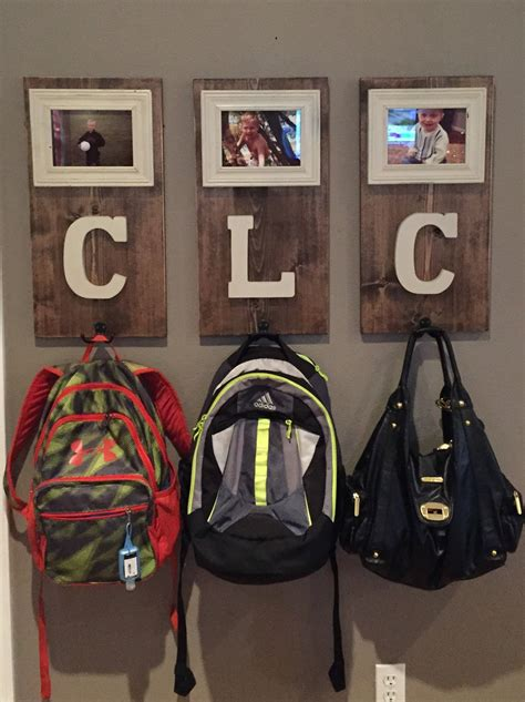 ideas for hanging backpacks personalize coat and or backpack hooks