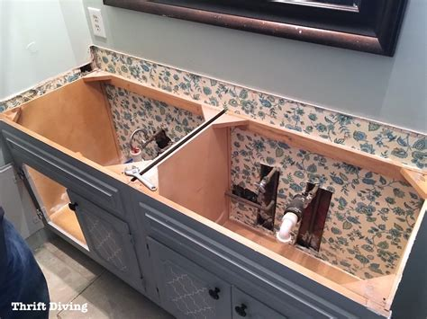 remove bathroom vanity how to remove an old bathroom vanity thrift diving blog