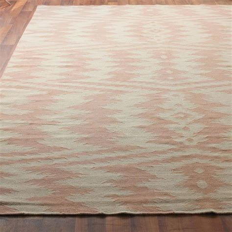 dusty pink rug ikat stripe dhurrie rug in dusty pink and taupe pretty in pink