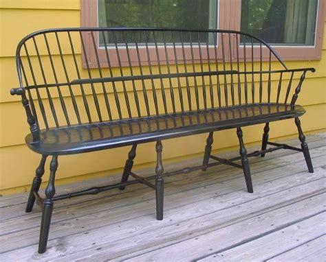 windsor settee handmade windsor chairs bench indiana house ideas