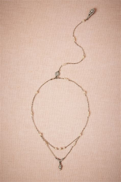 necklace that drapes down the back bhldn spring 2014 accessories