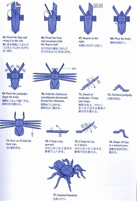 Origami Spider Diagram - tarantula by robert lang