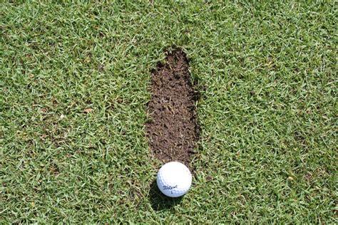 golf swing divot after ball divots in golf