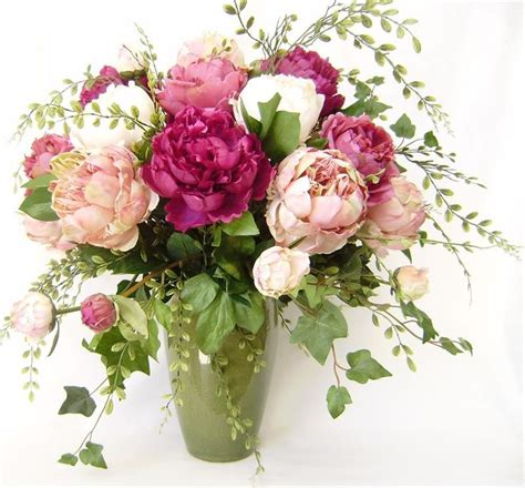 peony arrangement 25 best ideas about silk flower arrangements on pinterest