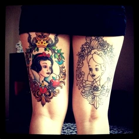 tattooed snow white disney tattoos