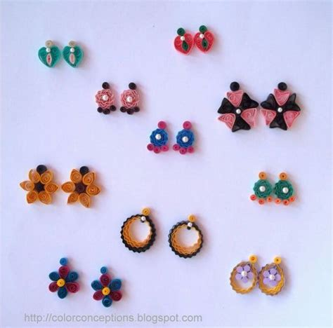 quilling jewellery tutorial for beginners quilling earrings stud quilling earrings quilling