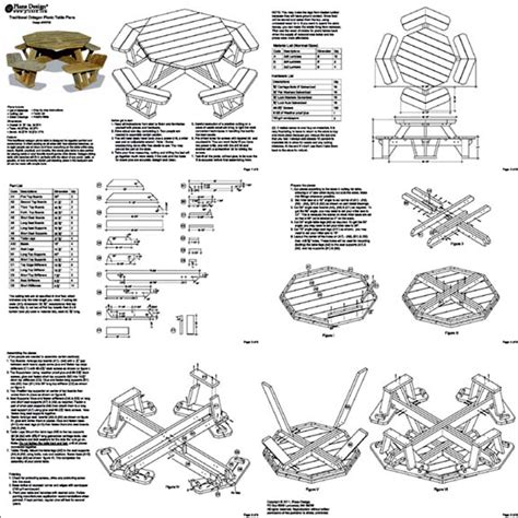 octagon picnic table plans pdf plans octagon picnic table free pdf woodworking octagon picnic table plans and drawings