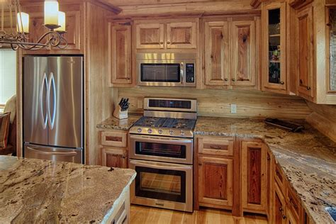 Rustic Cabinets Kitchen Hickory Cabinets Kitchen Rustic With Country Cabin
